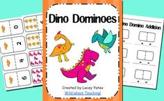 Dino Dominos-Number Recognition & Addition from Wild about Teaching 10 on TeachersNotebook.com -  (16 pages)