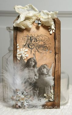 Anne's paper fun: Vintage tag pretty and soft