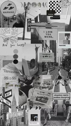 Dark Wallpaper Iphone, Iphone Wallpaper Tumblr Aesthetic, Black Aesthetic Wallpaper, Iphone Background Wallpaper, Retro Wallpaper, Black Wallpaper, Galaxy Wallpaper, Aesthetic Wallpapers, Aesthetic Collage