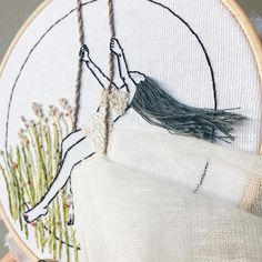"762 mentions J'aime, 35 commentaires - Ceren (@kayra.handmade) sur Instagram : ""Progress shot on my current wiphave something breezy in mind . . . #kayrahandmade #embroidery…"""