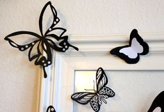 Black Butterflies Large Butterflies Paper by MyDreamDecors on Etsy, $20.00