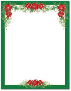 Holiday Stationery Letterhead Red Green Flakes Stationery