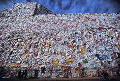 Former Berlin Post office wrapped in thousands of Love Letters  , - ,   This is a very d...