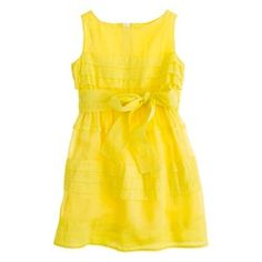JCrew girls' organdy tiered dress - too yellow for Easter?  looks better on model.  Easter dress
