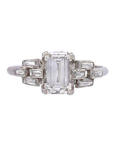 16 Diamond Vintage Engagement Rings For The Timelessly Cool Bride #refinery29  http://www.refinery29.com/60051