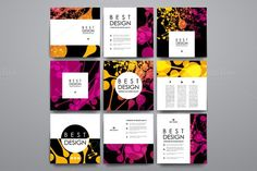 9 Abstract Flayer Templates. Flyer Templates. $5.00