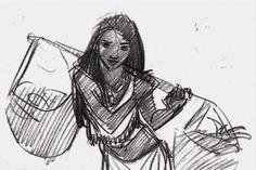 Pocahontas Concept Sketch