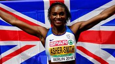 Great Britain's Dina Asher-Smith completes a European Championships sprint double with victory in the 200m final in Berlin.