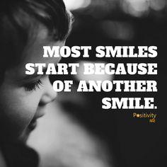 Smile at someone today. :) #positivitynote #positivity #inspiration