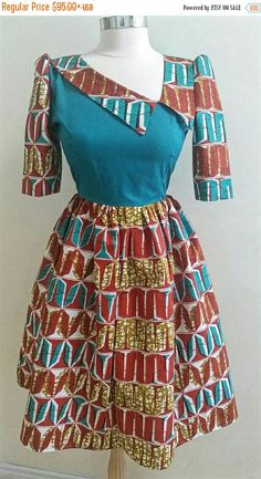 SALES African print Dress Ankara Dress African by JENNYROSSY