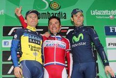 Box on Race in Lombardia(Italy), 1. Joaquim Rodriguez, 2. Alejandro Valverde, 3. Rafał Majka!
