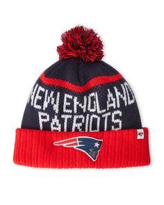 '47 Brand New England Patriots Pom-Pom Linesman Knit Hat