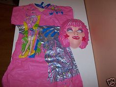 Remember these horrible Halloween costumes from the 80's? They were cheap plastic, made in China, and probably contained lead. I was Jem one year - maybe 1985 or 1986. #jem #80s #halloween