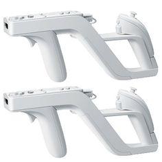 Mini Kitty 2 X Zapper GUN for Nintendo Wii Wireless Remote Controller Game-Perfect Fit For Nintendo NunchunkRemote Plus
