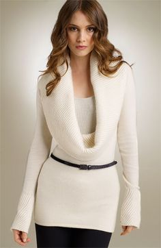 Design History Cowl Neck Sweater