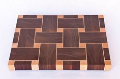 Large Chopping board of walnut and maple by ArgyleCutoffs on Etsy