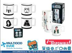 STAR WARS - TAZA - CHUPITOS SET 4 MINITAZAS EAN: 4897021357444 Material: porcelana. Presentación: caja. Medidas taza: diámetro 5cm x altura 5cm. Medidas caja: 12,5x13,5cm STAR WARS - TAZA - SET 3 TAZAS APILABLES Tres tazas aplilables con las que podrás crear extrañas y divertidas combinaciones. Los personajes que aparecen son: Luke Skywalker, Han Solo y Stormtrooper. EAN: 4897021357468 Material: cerámica. Presentación: caja.