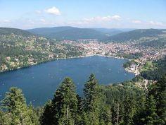 Gerardmer et le lac vue de la tour de Merelle Guide touristique des Vosges Lorraine