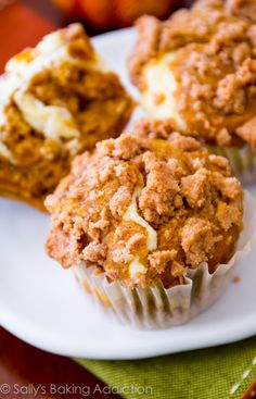 Pumpkin Cheesecake Muffins.