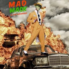 Mad Mask #madmax #themask #film #2015 #fire #car #tomhardy #jimcarrey #funnypictures #mashup #photomanipulation