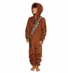 Kids Brown Chewbacca Costume Onesie : Main