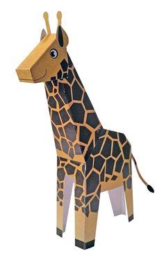 De savanne is niet compleet meet een giraffe. Ontworpen voor Keesing BV/Denksport
