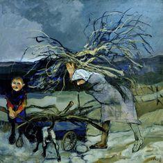 Alonso - La le�era - �leo s/tela, 100 x 100 cm., 1989