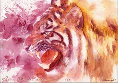 Tiger roar by AuroraWienhold.deviantart.com on @deviantART