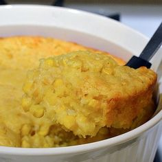 corn casserole...canned whole kernel corn, cream style corn, Jiffy corn muffin mix, sour cream, cheddar....