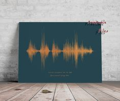 Personalised Soundwave Print, Sound Wave Printable, Personalised Voice Art, Song Music Heartbeat Voice , Last minute gift idea Waves Song, Sound Waves, Nature Sounds, Wave Art, Last Minute Gifts, New Baby Gifts, In A Heartbeat, Large Prints, Fotografia