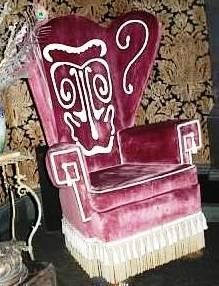Hidden Donald chair-Haunted Mansion : buy a v neck and create this design with bleach