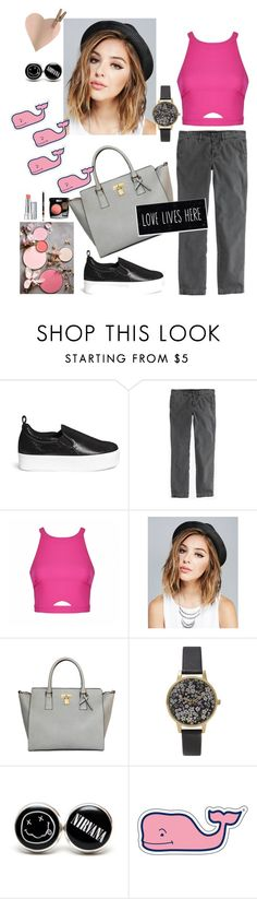 """""""#144: loving the rhythm"""" by lydsam ❤ liked on Polyvore featuring Pedder Red, J.Crew, Ally Fashion, Wet Seal, Olivia Burton, Vineyard Vines, women's clothing, women's fashion, women and female"""