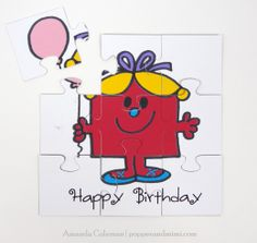 Kids Birthday Card Puzzle
