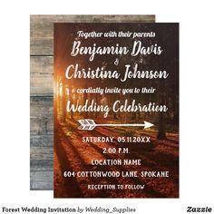 Customizable Forest Wedding Invitation
