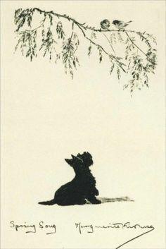 Scottish Terrier KIRMSE 1930 ~ I love this print, looks just like Poppy