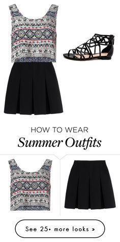 """summer outfit :D"" by amyleonardcormican on Polyvore featuring Alexander Wang, Glamorous, women's clothing, women, female, woman, misses and juniors"