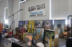 Some of the live auction items that were up for sale at the Boys & Girls Club celebrity Auction held in August 2016 at Trinity United Methodist Church in Greeneville, Tennessee