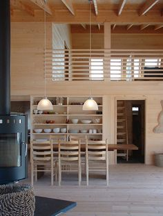 Eide, Skailand, Sirdal, Hytte, Hoem + Folstad Arkitekter, Hoem, Folstad, Bilde 4 Cabin Interiors, Wood Interiors, Interior Architecture, Interior And Exterior, Micro House, Scandinavian Home, Cabins In The Woods, Interiores Design, Home And Living
