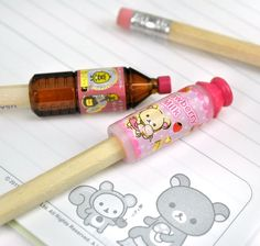 Rilakkuma's Chocolate and Coffee Pencil Toppers