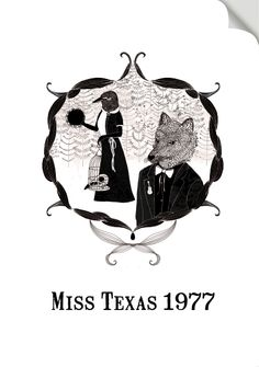 A design that Lauren Fowler did for my band, Miss Texas 1977 Miss Texas, Posters, Band, Illustration, Prints, Design, Sash, Poster