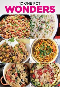 10 One Pot Wonder Recipes for simple and easy dinners. by millicent