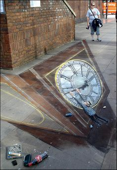 Street art by Julian Beever (love it!)