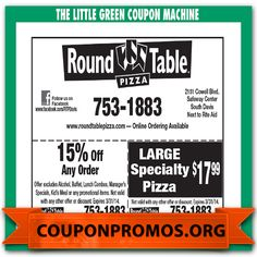 picture about Round Table Printable Coupons named 1000 Least complicated Printable Pattern Discount coupons pictures inside of 2015