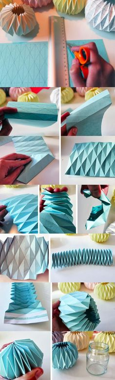 Cubiertas de papel decorativas - denkreativesky.dk - DIY Paper Decoration