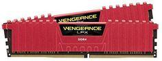 Corsair Vengeance LPX 8GB (2x4GB) DDR4 DRAM 3000MHz (PC4-24000) C15 Memory Kit - Red