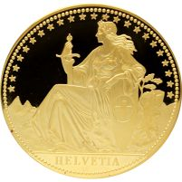 1987 12oz Proof Gold Helvetia. Mintage of only 250. http://www.gainesvillecoins.com/buy-gold.aspx