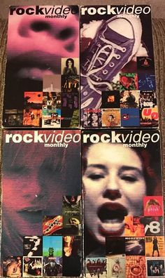 Lot Of 4 Rock Video Monthly March - June 1994 Alternative 90s Grudge VHS Tapes  | eBay