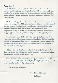 Storybrooke Live > Kathryn's Letter to David (S1E13)