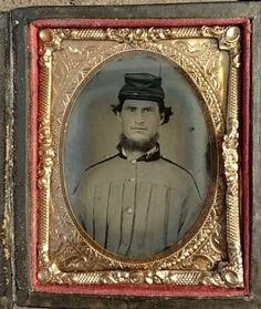 Antique Tintype Photo Civil War Confederate Looking Soldier in Grey Battle Shirt in Collectibles, Photographic Images, Vintage & Antique (Pre-1940), Tintypes | eBay