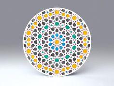 Arabesque • arabisches Radial-Ornament • freistehende, runde Falt-Karte für Standardkuverts • Goya - cc023.07 • #rund #Karte #radial #arabisch #Dekoration #Papier www.centuryo.com